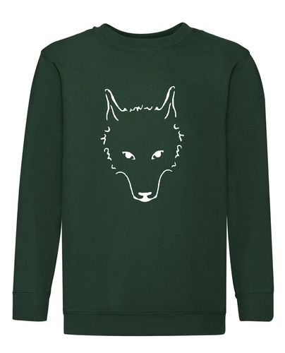 Sweat-Shirt, mit Wolfskopf
